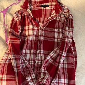 Aeropostale flannel XL, Red and White